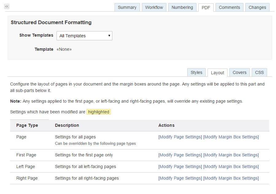 Document formatting screenshot