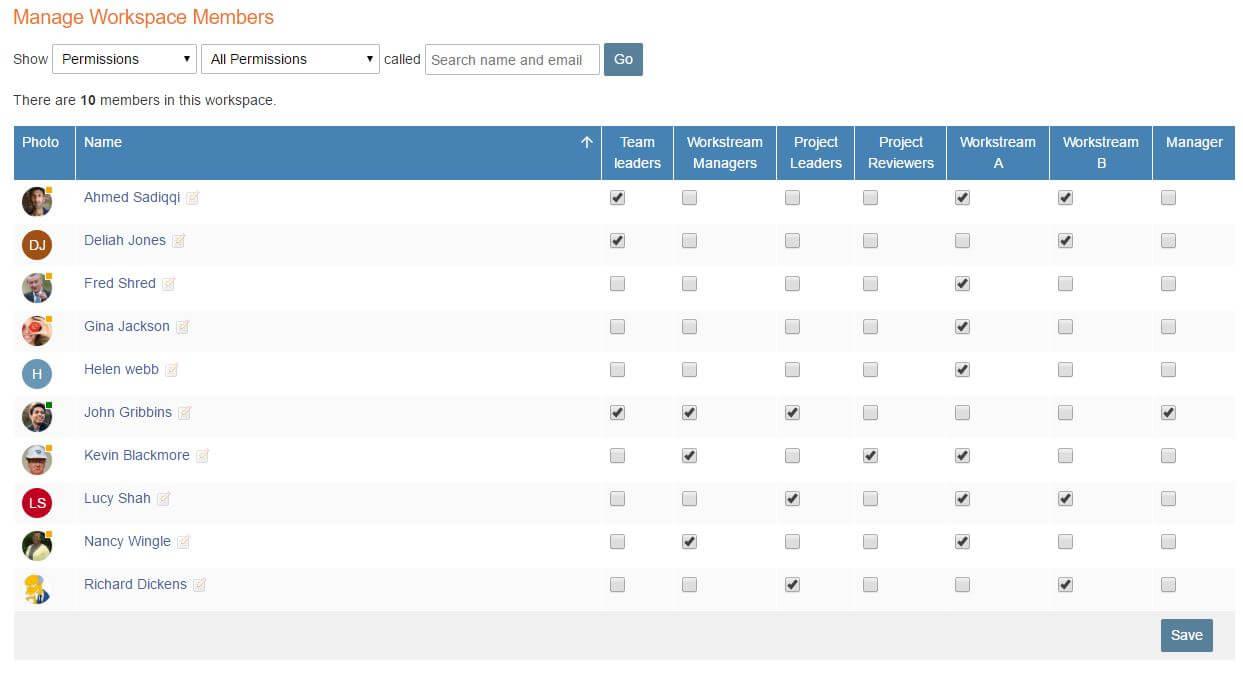 Manage member screenshot