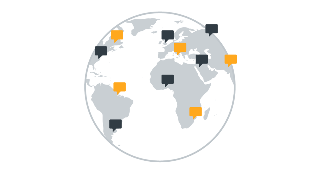 Global work graphic