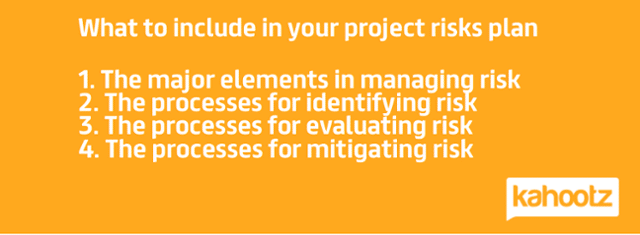 Manage potential project risks