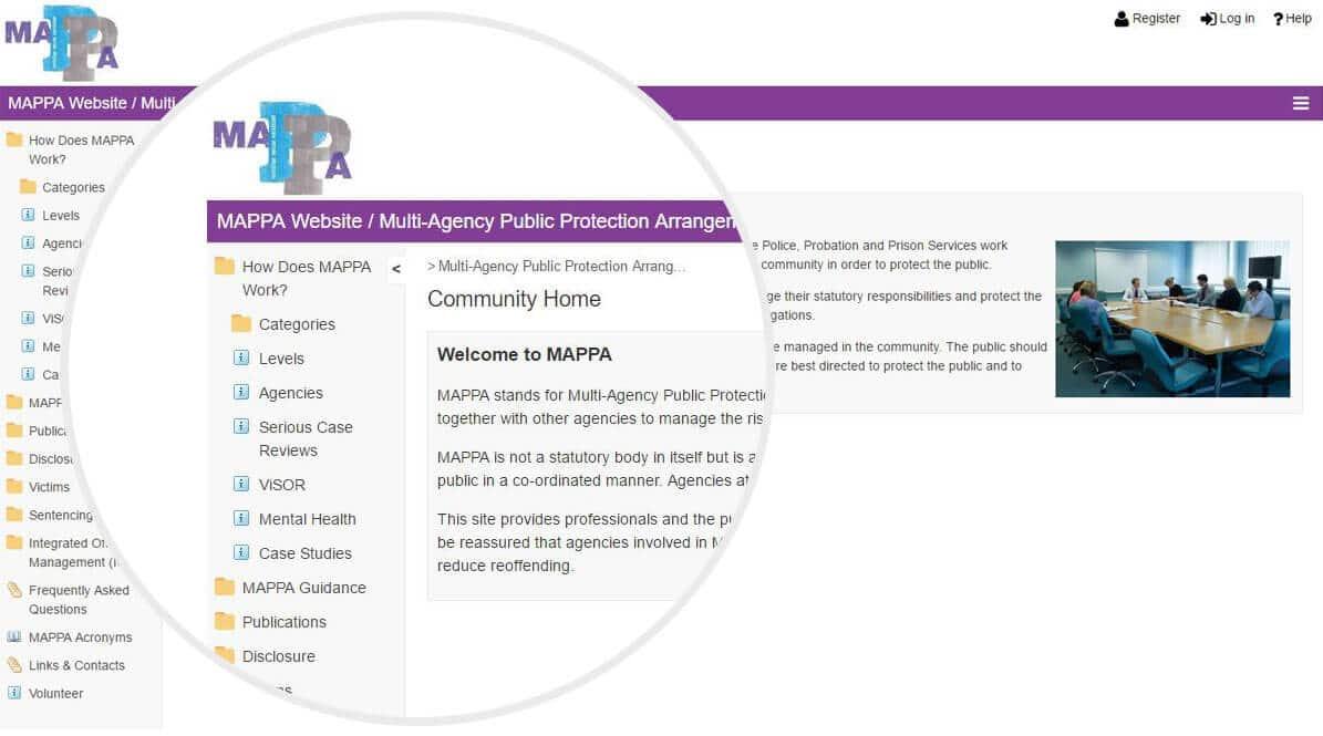 MAPPA website screenshot