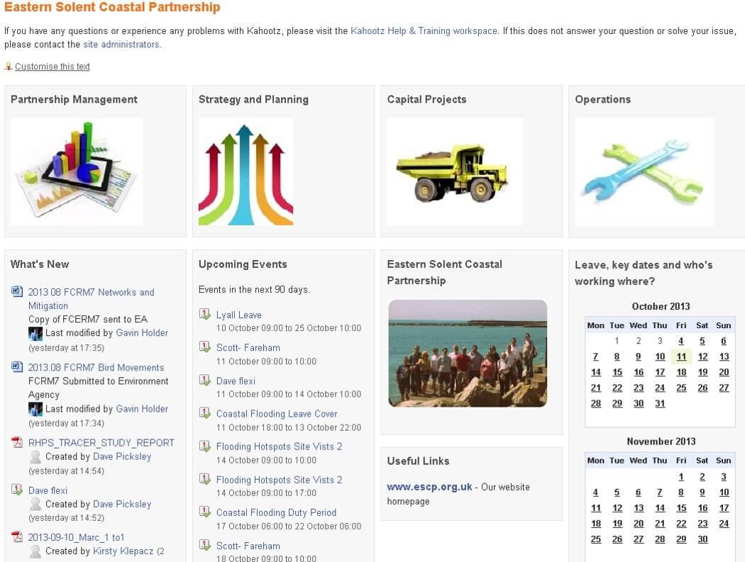 Eastern Solent Coastal Partnership screenshot