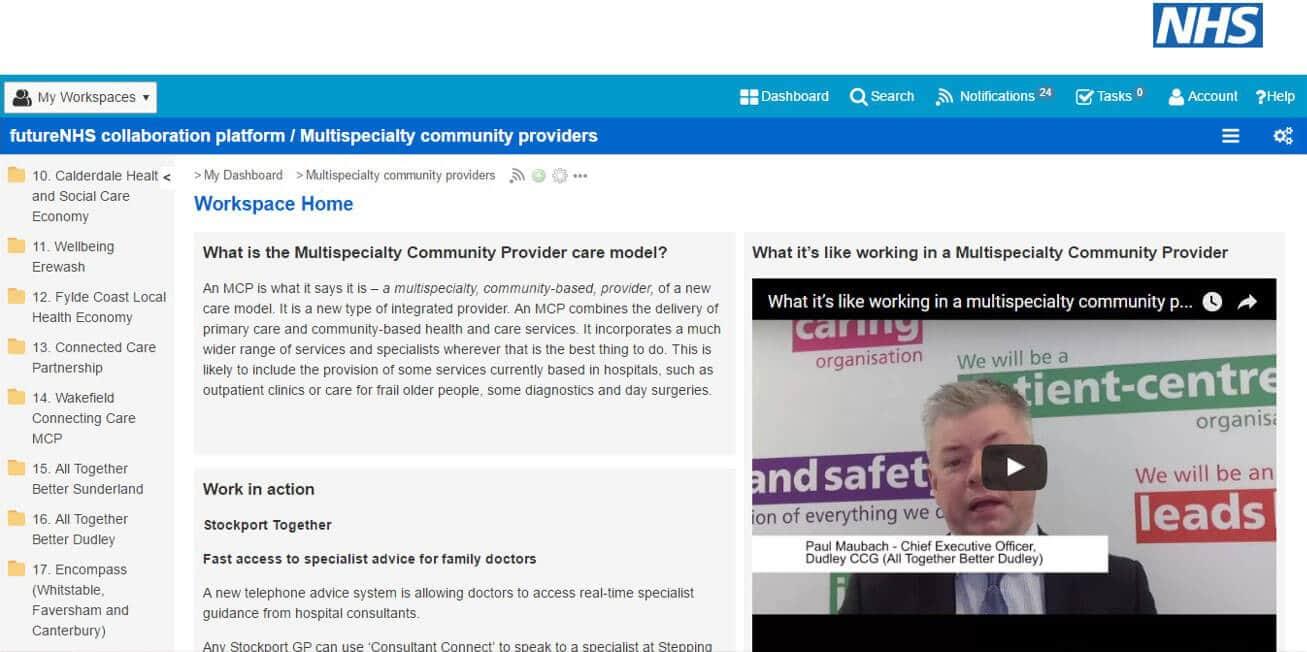 NHS screenshot