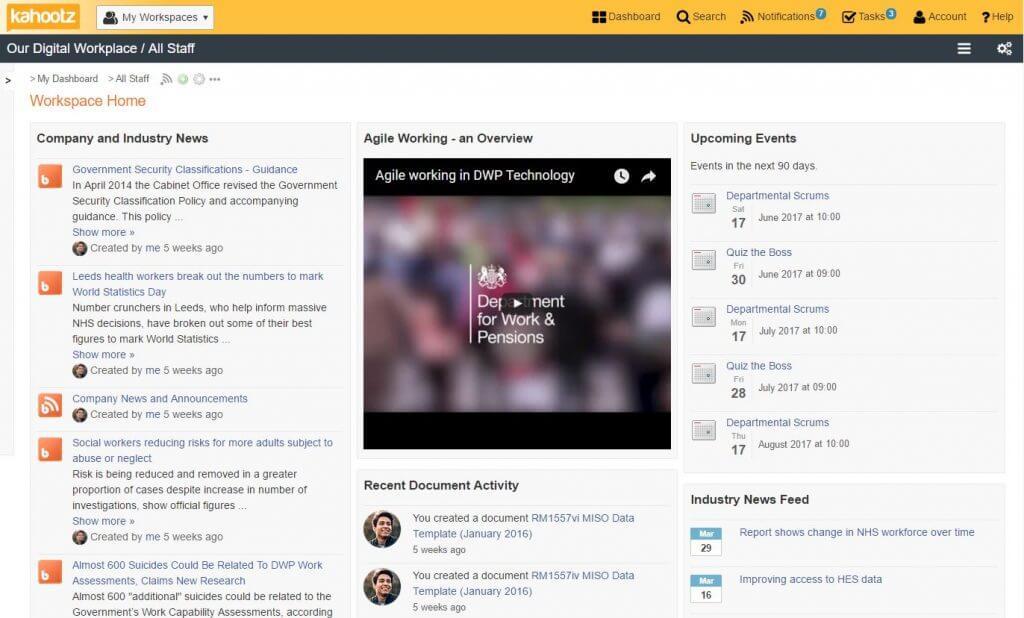 Agile working screenshot