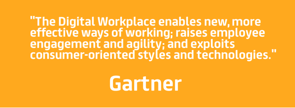 digital workplace gartner