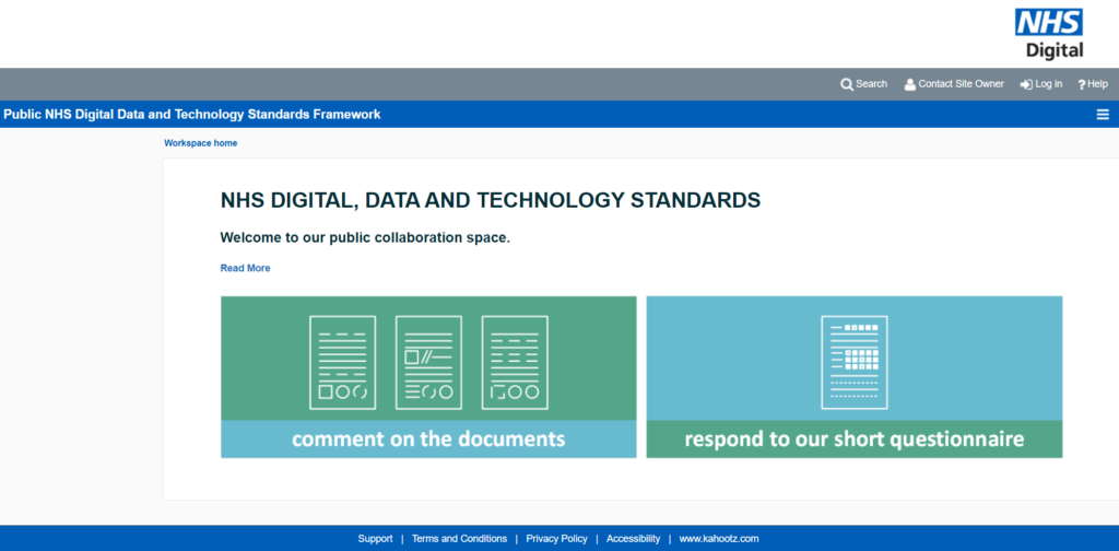 Public NHS Digital Data and Technology Standards Framework